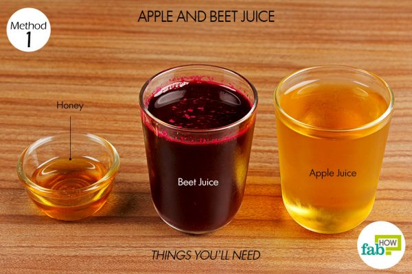 things you'll need for using apple and beet juice to increase your hemoglobin