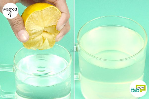 mix lemon juice and water
