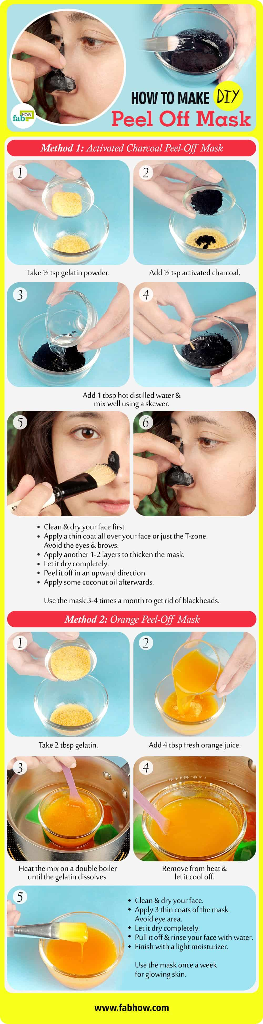 how to make DIY peel-off masks summary