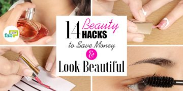 beauty hacks to save money and look beautiful