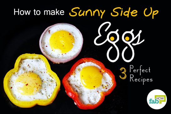 how to make perfect round sunny side up