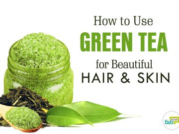 how to use green tea for beautiful hair and skin