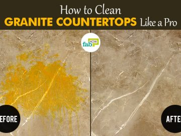 feat how to clean granite countertops