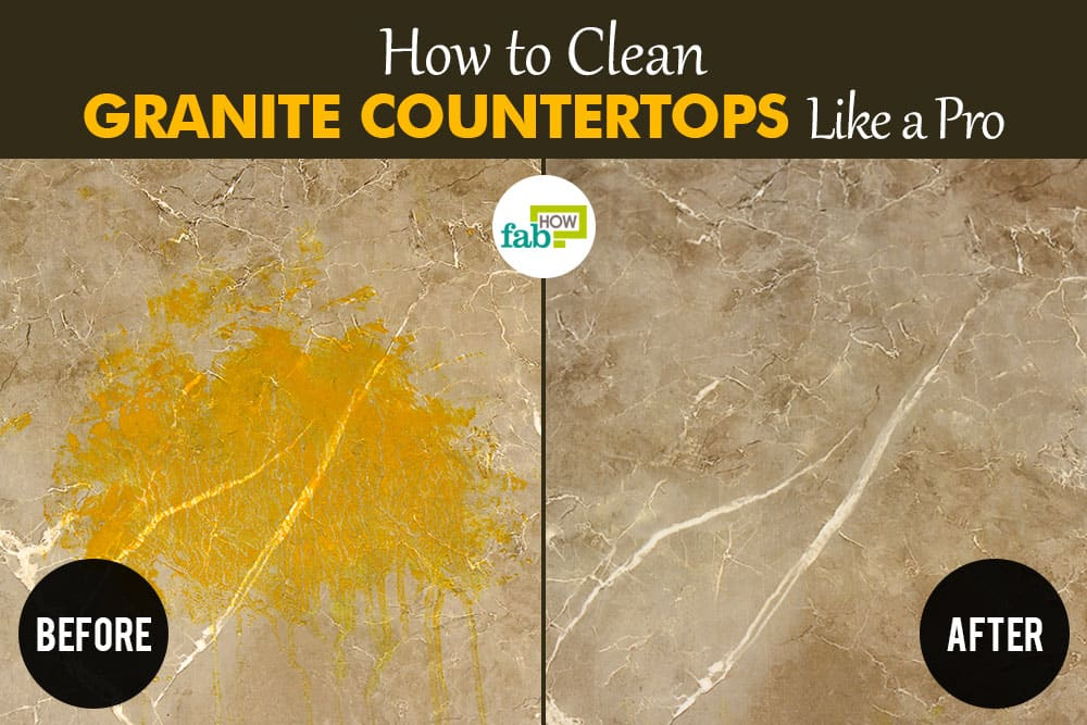 Cleaning granite countertops with vinegar tons of ways to for Best way to clean slabs