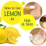 how to use lemon for hair and skin