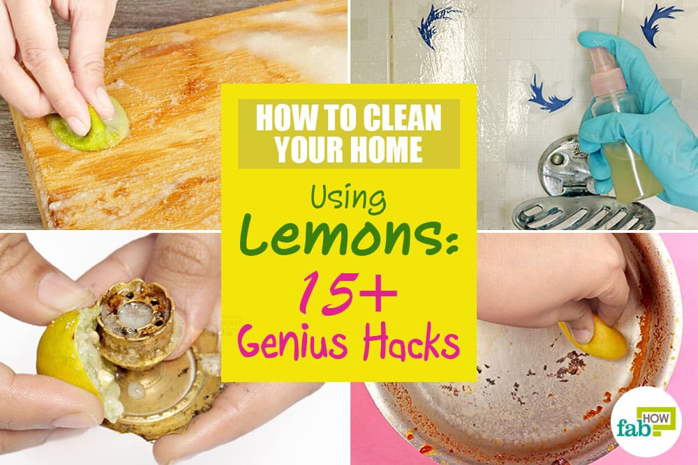 how to use lemons for cleaning hacks