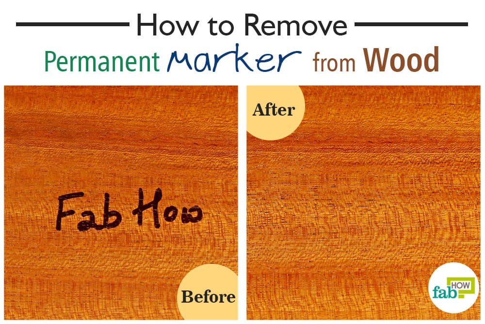 how to remove permanent marker from wood fab how. Black Bedroom Furniture Sets. Home Design Ideas