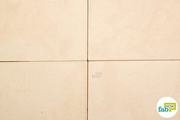final remove staine from grout with lemon