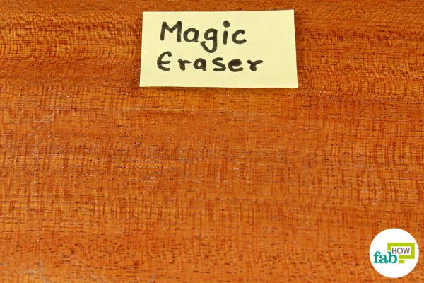 final removed permanent marker stain using magic eraser