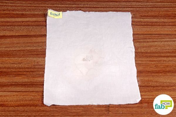 final removed coffee stain using bleach