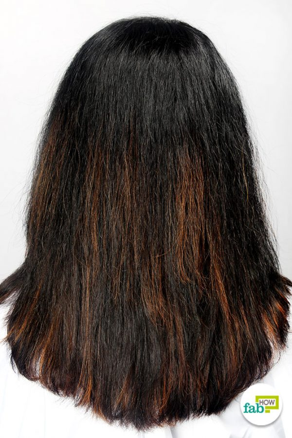 final straighten hair with hair straightener
