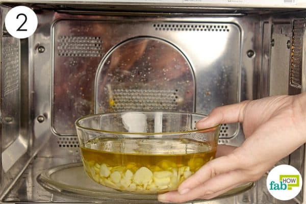 microwave the garlic and oil mix