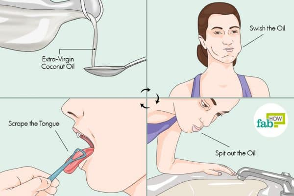 try oil pulling to clean your tongue