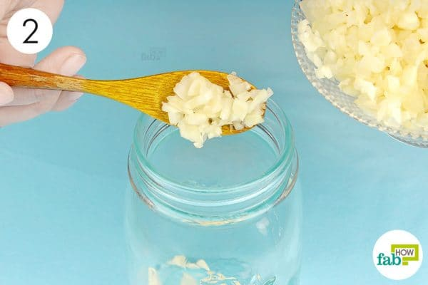 put the garlic cloves into an airtight container