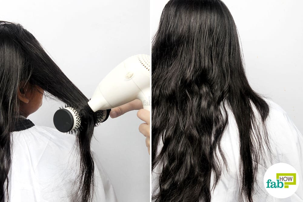 How to straighten hair with a hair dryer