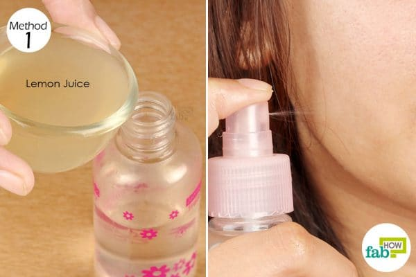 dilute lemon juice and apply on acne affected skin