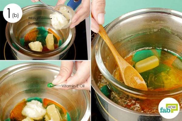 add mango butter for homemade makeup