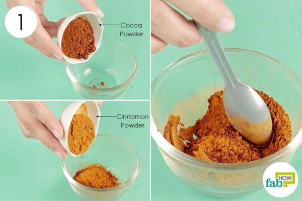 blend cocoa powder and cinnamon powder