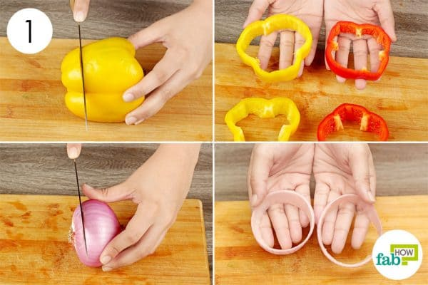 cut the veggie rings
