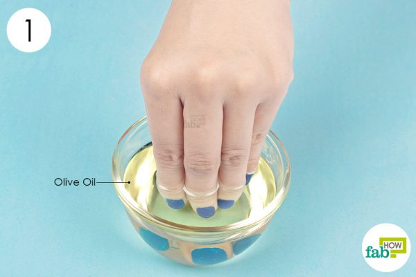 dunk your nails in oil
