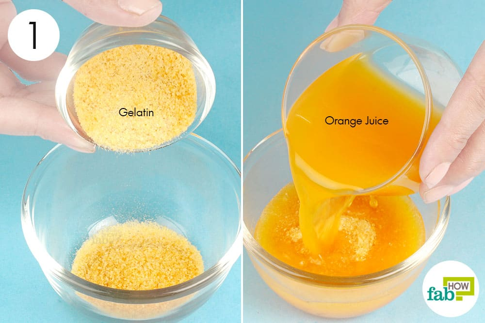 5 best diy peel off facial masks to deep clean pores and blackheads mix gelatin and orange juice in a bowl solutioingenieria Images
