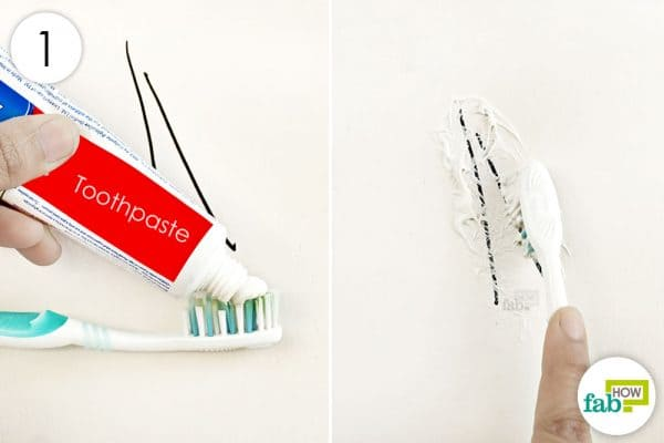 smear toothpaste over the marking