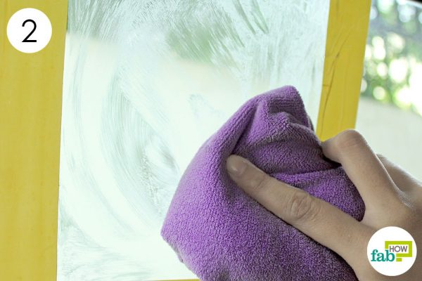 wipe with a microfiber