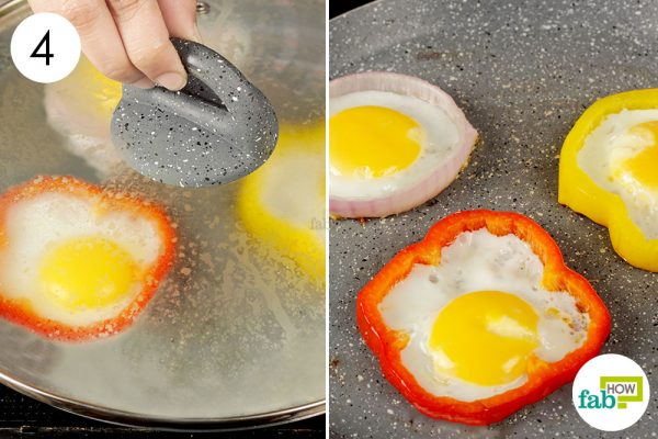 cover the skillet with lid to cook the egg