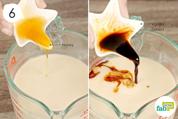 add honey and vanilla extract