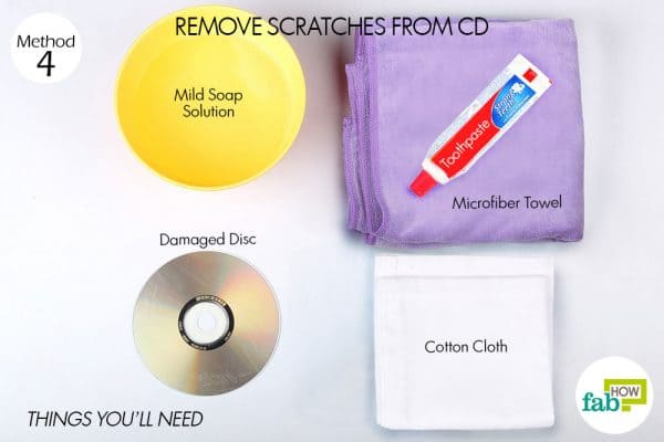 things you'll need to use toothpaste to clean cd scratches