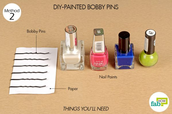 things you'll need for DIY painted bobby pins