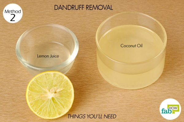 things you'll need for dandruff removal