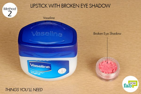 things you'll need make lipstick with broken eye shadow