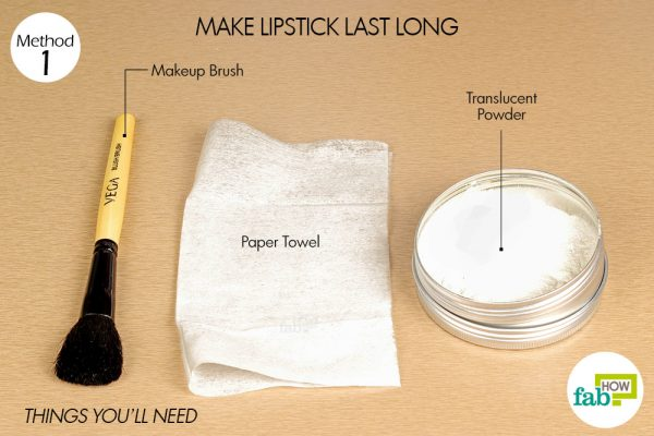 things you'll need to make lipstick long lasting