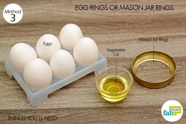 things you'll need to use egg rings to make sunny side up eggs