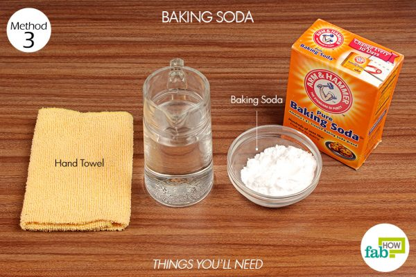 things you'll need to use baking soda to remove coffee stains from clothes