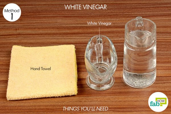 things you'll need to use white vinegar to remove coffee stain from clothes