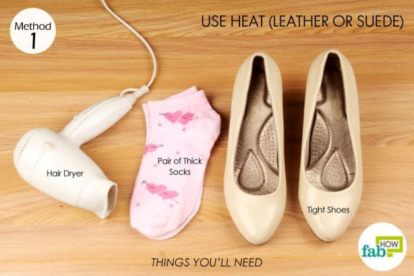things you'll need to stretch too tight shoes with heat