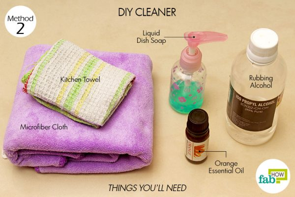 things you'll need to use DIY cleaner to clean granite countertop