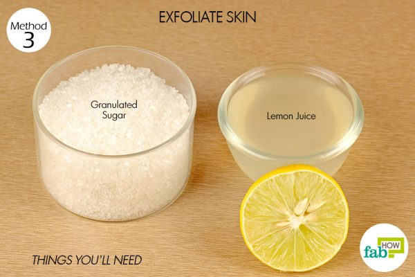 things you'll need to exfoliate skin