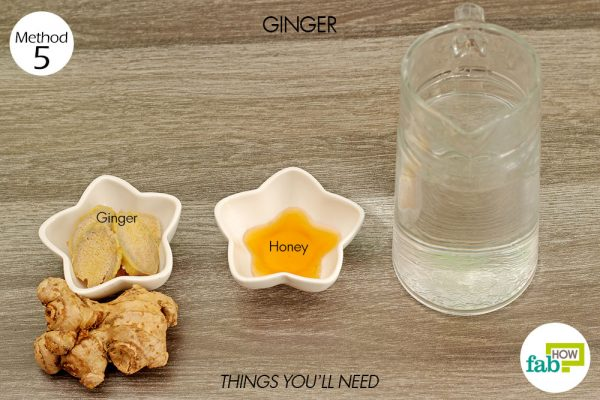 things you'll need to use ginger to get rid of food poisoning