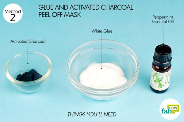 things you'll need to make DIY peel-off facial mask usingglue