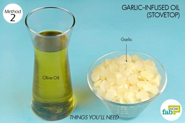 things you'll need to make garlic oil using stovetop