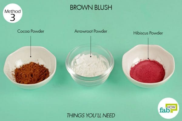 things you'll need to make brown blush