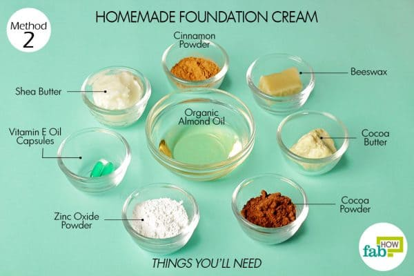 things you'll need to make foundation cream