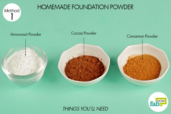 things you'll need to make foundation powder
