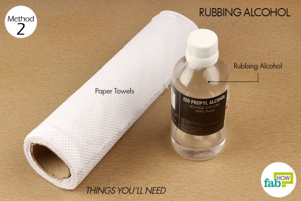 things you'll need to use rubbing alcohol to remove permanent marker from clothes