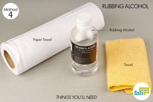 things you'll need to use rubbing alcohol to remove permanent marker from wood