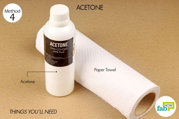 things you'll need to use acetone to remove permanent marker from glass