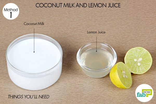 things you'll need to straighten hair with coconut milk